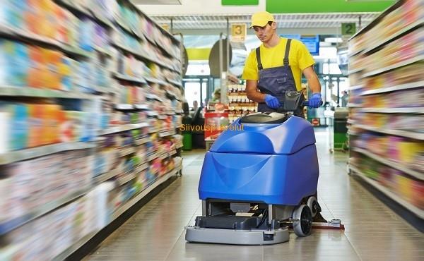Myymälä siivous, ammattitaidolla